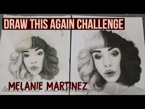 DRAW THIS AGAIN CHALLENGE | Drawing Melanie Martinez