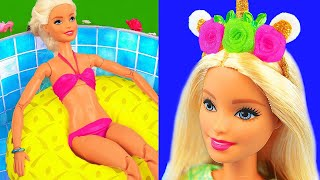 15 DIY Barbie Hacks: Swimming Pool, LOL-themed room, Clothes, Mermaid bag and more
