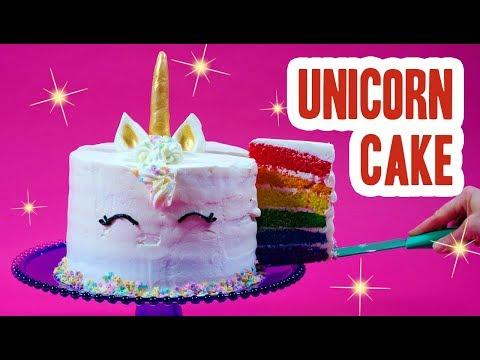 Rainbow Unicorn Cake!