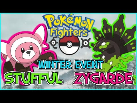 Pokemon Fighters EX - How to get Zygarde & Stufful (WINTER EVENT 2017) !