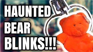 HAUNTED TEDDY BEAR BLINKS INSIDE A CLAW MACHINE!!! (Not Clickbait!!)    ClawBoss