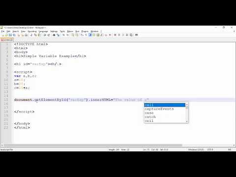 JavaScript - Simple Variables Example with Numbers