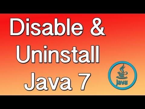 Tutorial Disable and Uninstall Java 7 Mac
