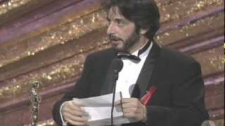 Al Pacino Wins Best Actor: 1993 Oscars