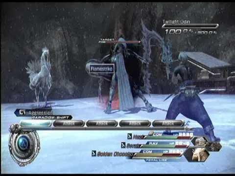 Final Fantasy XIII-2 Side Boss Twilight Odin 1 Vile Peaks 010 AF