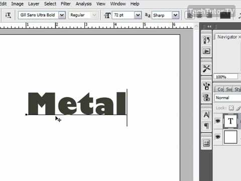 How to Create Metal Text in Photoshop CS3