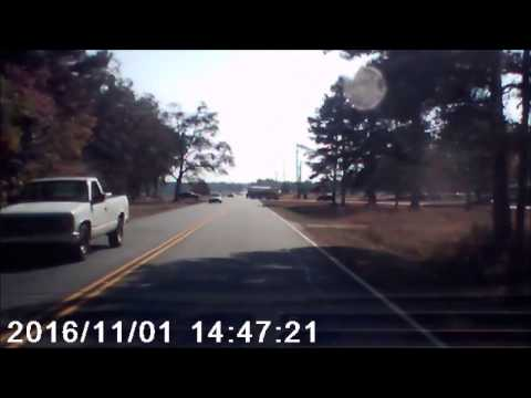 almost wrecked!!!  Recorded on dash cam..