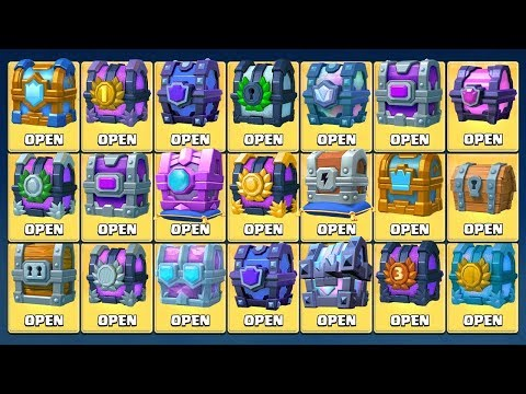 OPENING EVERY CHEST IN CLASH ROYALE - ALL CHEST OPENING + FORTUNE CHEST & LEGENDARY KINGS CHEST