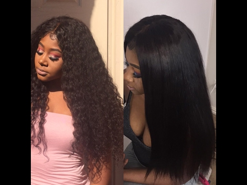 CURLY TO STRAIGHT HAIR TUTORIAL    AMOUR JAYDA FLAT IRON REVIEW
