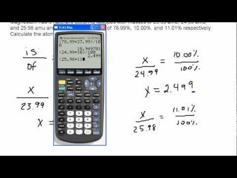Calculating Atomic Mass from Natural Abundances