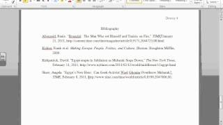 Chicago Style Bibliography