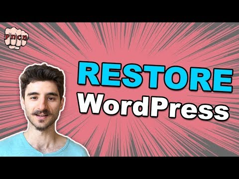 Restore WordPress from Backup - Even if you can't access WP