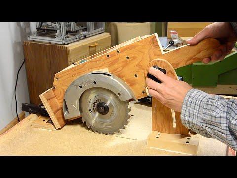 Table saw build: depth adjust mechanism