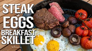 Steak and Eggs Breakfast Skillet | SAM THE COOKING GUY 4K