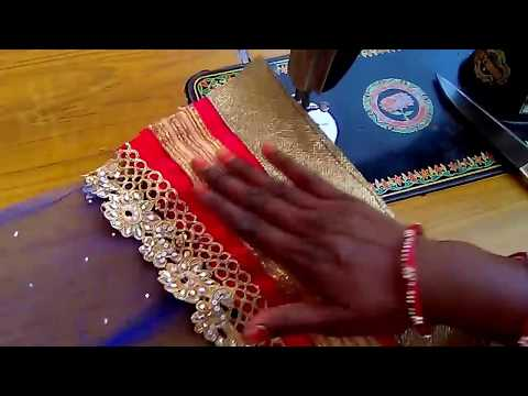 How to make a net lehenga with Aster with less