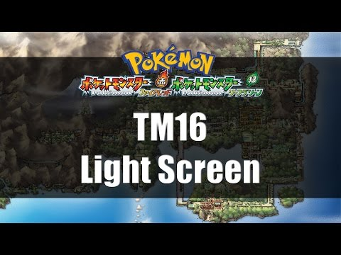 Pokemon Fire Red & Leaf Green | Where to find TM16 Light Screen