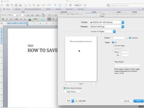 How to save document into PDF file on MacBook!