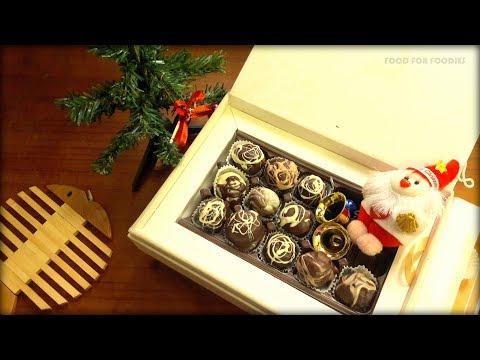 TRUFFLE CHOCOLATES   #Homemade Chocolates   How to make chocolate truffles at home  चॉकलेट