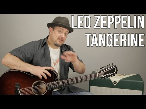 Led Zeppelin - Tangerine - How to Play on Guitar - Acoustic - 12 String