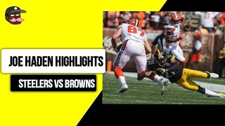 Joe Haden Hightlights Vs The Cleveland Browns