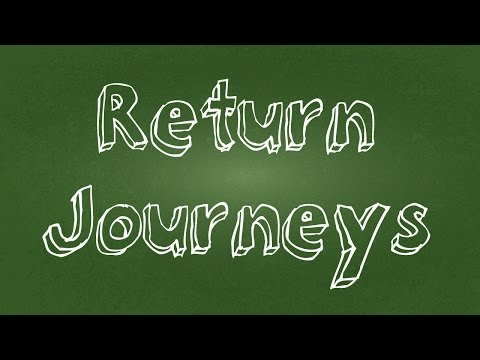 Return journeys in distance time graphs - Physics tutorial