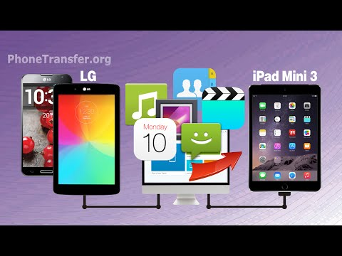 How to Sync All Calendar, Contacts, Messages, Videos, Photos from LG Phone to iPad Mini 3