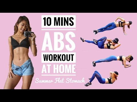 10 min Intense Ab Workout: No Equipment At Home Routine to Burn Belly Fat 10分鐘無器材燃燒腹部脂肪