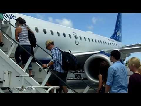 Boarding the plane at Saint Martin Airport
