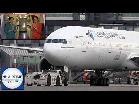 GARUDA INDONESIA BOEING 777-300ER AIRCRAFT, COCKPIT, CABIN and CREW REST VISIT