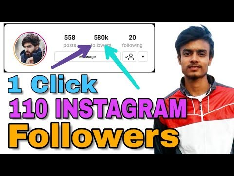 How to increase Followers on INSTAGRAM (2018)| 1 minute 110 increase INSTAGRAM Followers | malik