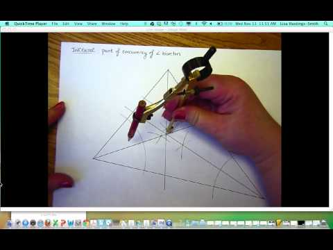Construct the Incenter of a Triangle