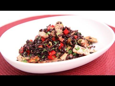 Black Rice & Turkey Salad Recipe - Laura Vitale - Laura in the Kitchen Episode 682