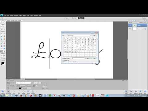 How to Use Special Characters / Glyphs in Photoshop Elements
