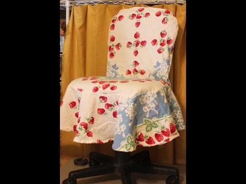 Simply Sewn Office Chair Slipcover