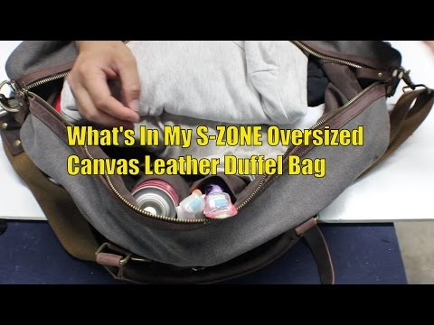PR: What's In My S ZONE Oversized Canvas Leather Duffel Bag