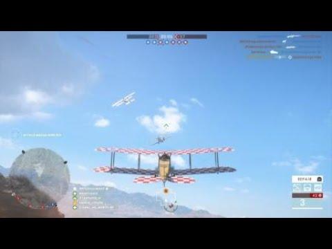 Battlefield 1 - flying pilot plane headshot