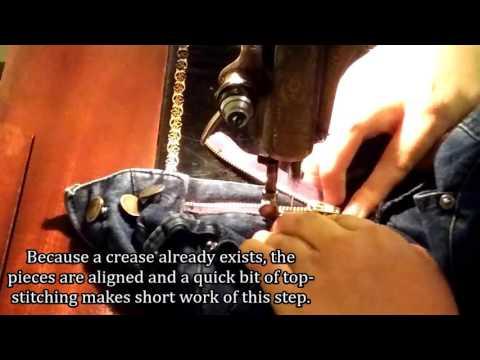 Repairing a Zipper in a Pair of Jeans