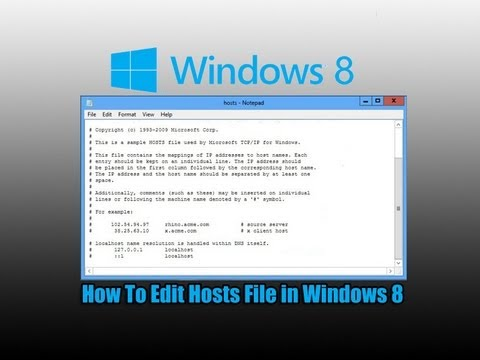 How To Edit Hosts File in Windows 8
