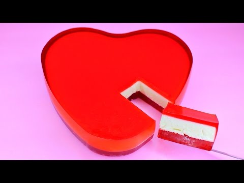 How to Make Heart Shaped Jelly Cheesecake