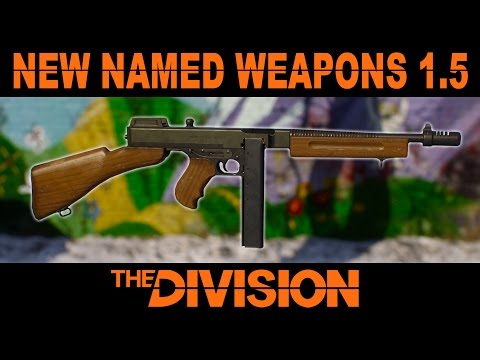New Named Weapons The Division 1.5