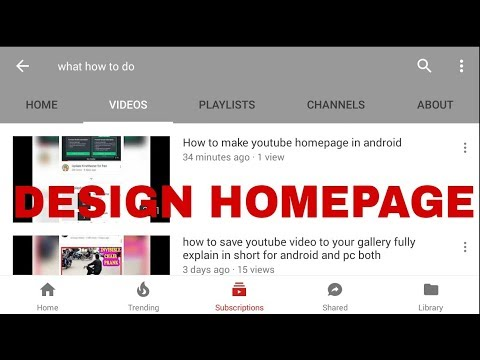 How to make youtube homepage in android