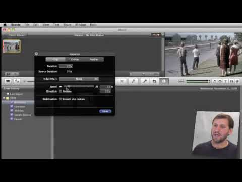 Speed Up, Slow Down and Reverse in iMovie 09 (MacMost Now 317)