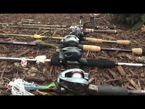 2017 Bass Fishing Rod & Reel Arsenal