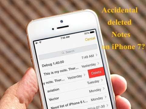 How to Recover Deleted Notes from iPhone 7/7 Plus