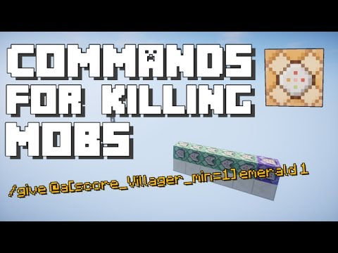 Minecraft: Custom Commands after Killing a Mob [Using Scoreboard]