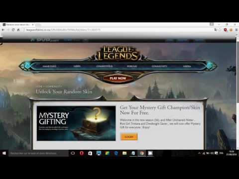 HOW TO GET FREE SKIN/CHAMPION IN LEAGUE OF LEGENDS (FREE GIFT)