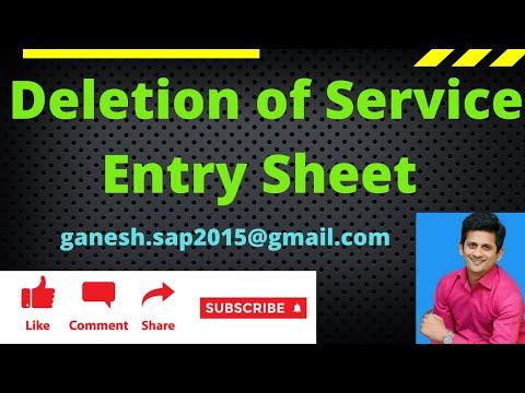 Video on SAP Service Entry Sheet by Ganesh Padala
