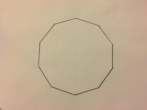 Comment Dessiner Un Décagone - How To Draw A Decagon.