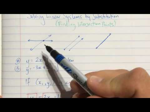 Solving Linear Systems by Substitution - Part 1