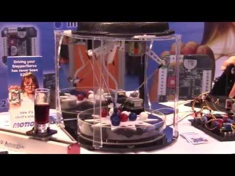 Dewey! A Mini Desktop Delta Robot by AllMotion